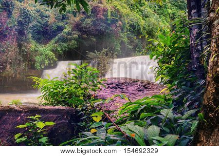 Waterfall in Thailand waterfall is beautiful sri dit waterfall.waterfall nature.tree nature.landscape nature