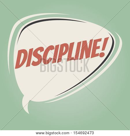 discipline retro speech balloon