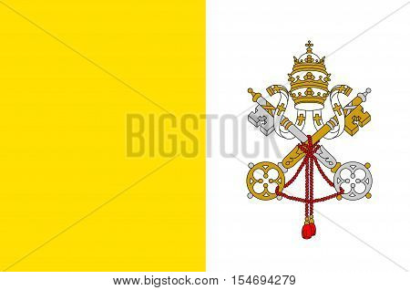 Flag of Vatican City officially Vatican City State is a walled enclave within the city of Rome