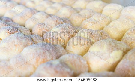 Group Of Carnival Tortelli Stuffed With Custard