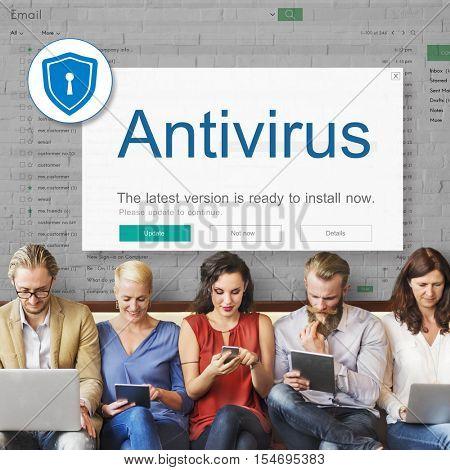 Firewall Antivirus Alert Protection Security Caution Concept