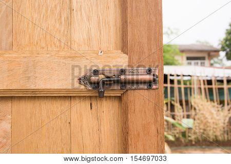 door lock and latch, Door handle with lock.