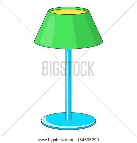 Floor lamp icon icon. Cartoon illustration of lamp vector icon for web design