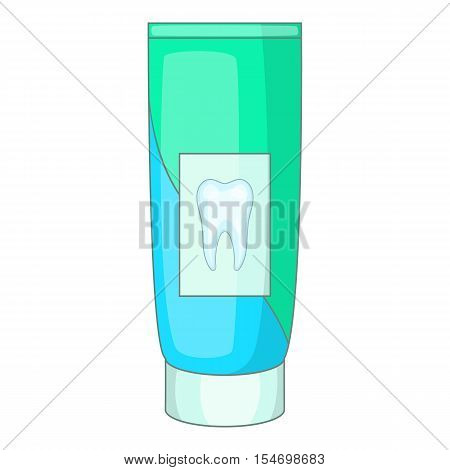 Toothpaste icon. Cartoon illustration of toothpaste vector icon for web design