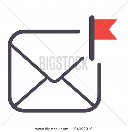 Envelope mail icon plane shopping and message icon for e-mail. Mail icon symbol message letter send. Web communication mail icon address business correspondence interface.