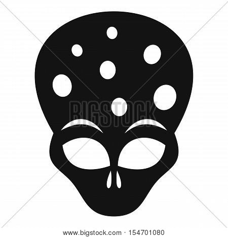 Extraterrestrial alien head icon. Simple illustration of alien head vector icon for web