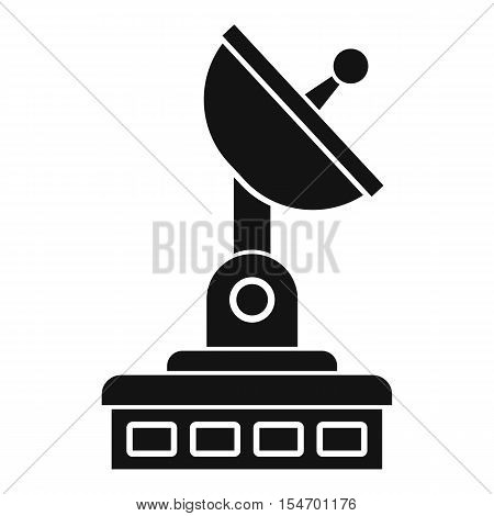Satellite dish icon. Simple illustration of satellite dish vector icon for web