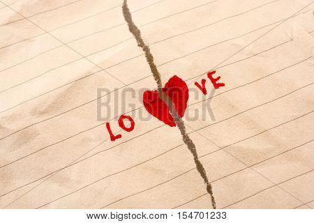 Torn Paper Says Love