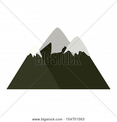 colorful lanscape with Snowy Mountains vector illustration