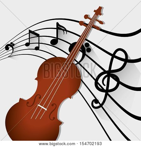 Music acoustic instrument icon vector illustration graphic design