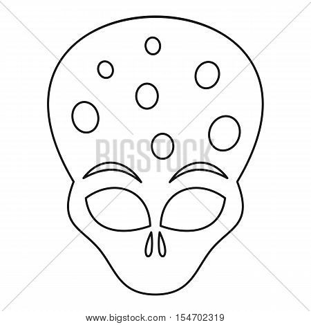 Alien icon. Outline illustration of alien vector icon for web