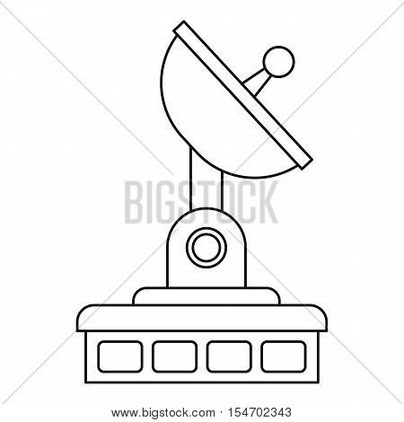 Satellite communication station icon. Outline illustration of satellite communication station vector icon for web
