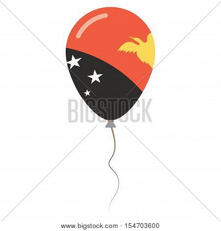 Independent State Of Papua New Guinea National Colors Isolated Balloon On White Background. Independ