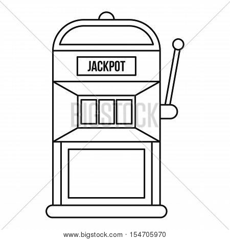 Slot machine icon. Outline illustration of slot machine vector icon for web