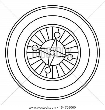 Casino roulette icon. Outline illustration of casino roulette vector icon for web