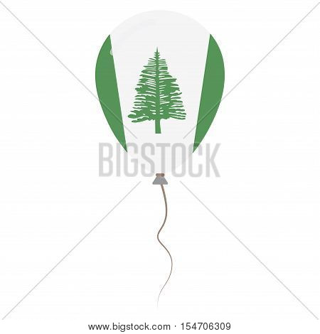 Territory Of Norfolk Island National Colors Isolated Balloon On White Background. Independence Day P