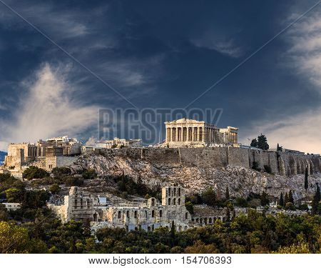 Temple of Parthenon Athenian Acropolis Athens Greece