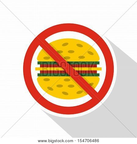 No fast food icon. Flat illustration of no fast food vector icon for web isolated on white background