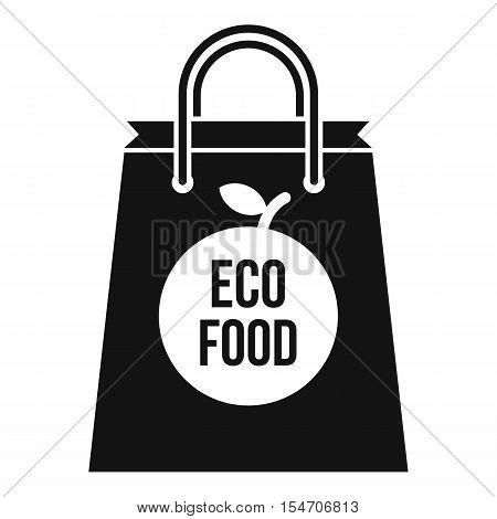 Eco food bag icon. Simple illustration of eco food bag vector icon for web