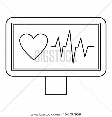 ECG monitor icon. Outline illustration of ECG monitor vector icon for web
