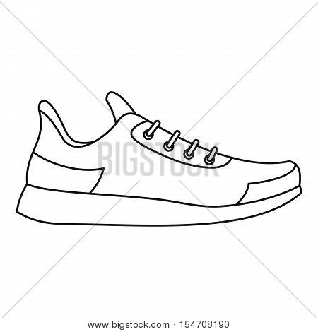 Athletic shoe icon. Outline illustration of athletic shoe vector icon for web