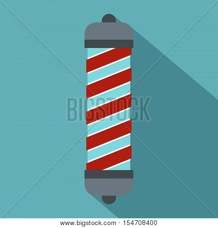 Hair curler icon. Flat illustration of hair curler vector icon for web isolated on baby blue background