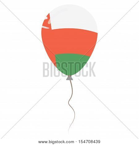 Sultanate Of Oman National Colors Isolated Balloon On White Background. Independence Day Patriotic P