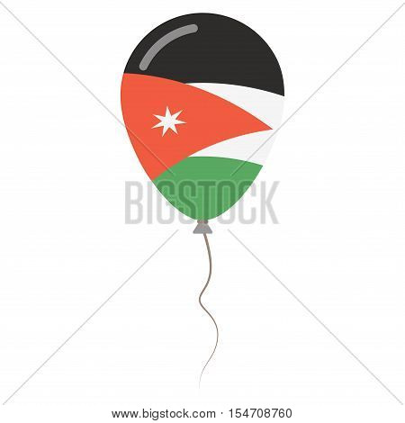 Hashemite Kingdom Of Jordan National Colors Isolated Balloon On White Background. Independence Day P