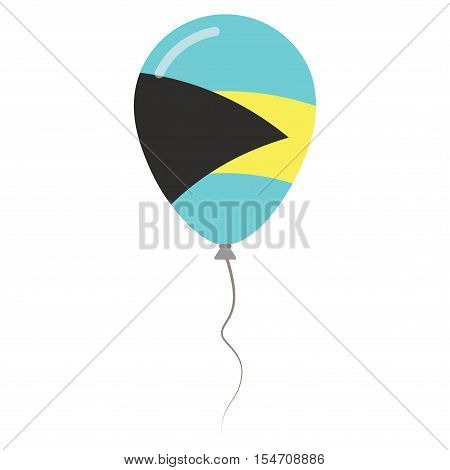 Commonwealth Of The Bahamas National Colors Isolated Balloon On White Background. Independence Day P
