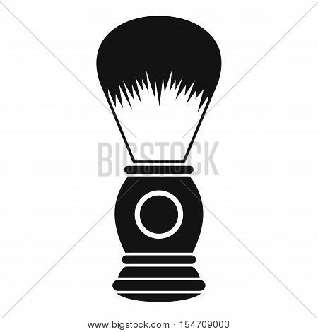 Shaving brush icon. Simple illustration of shaving brush vector icon for web