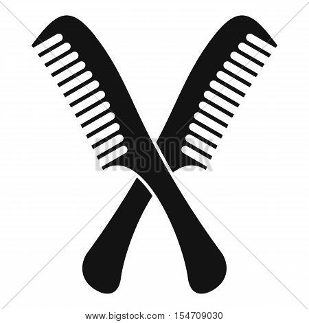 Combs icon. Simple illustration of combs vector icon for web