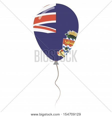 Cayman Islands National Colors Isolated Balloon On White Background. Independence Day Patriotic Post