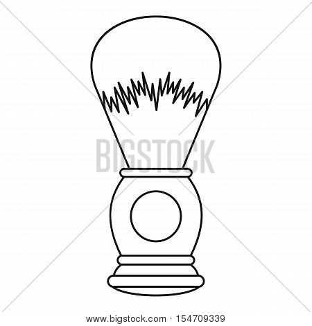 Shaving brush icon. Outline illustration of shaving brush vector icon for web