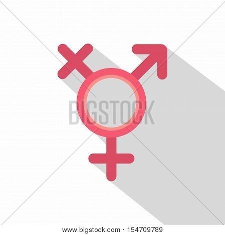 Transgender sign icon. Flat illustration of transgender sign vector icon for web