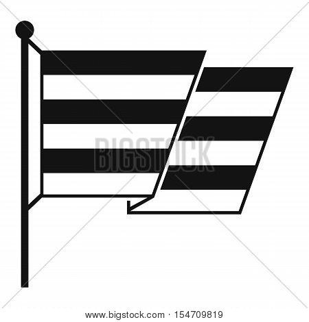 Flag LGBT icon. Simple illustration of flag LGBT vector icon for web