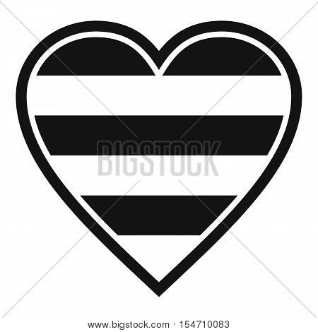 Heart LGBT icon. Simple illustration of heart LGBT vector icon for web