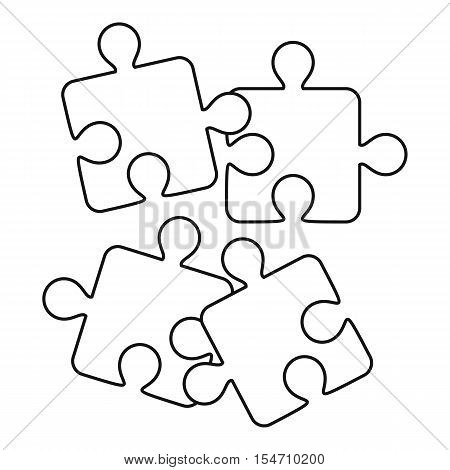 Jigsaw puzzles icon. Outline illustration of jigsaw puzzles vector icon for web