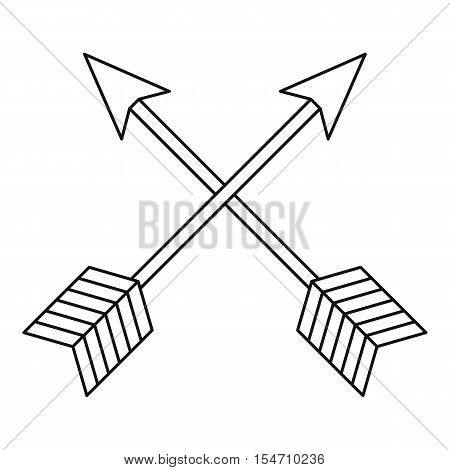 Arrows LGBT icon. Outline illustration of arrows LGBT vector icon for web