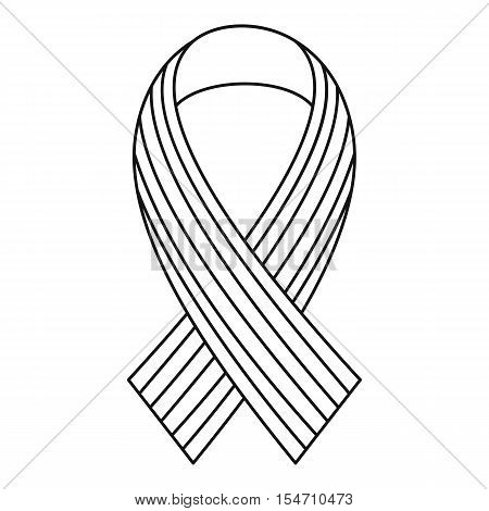 Ribbon LGBT icon. Outline illustration of ribbon LGBT vector icon for web