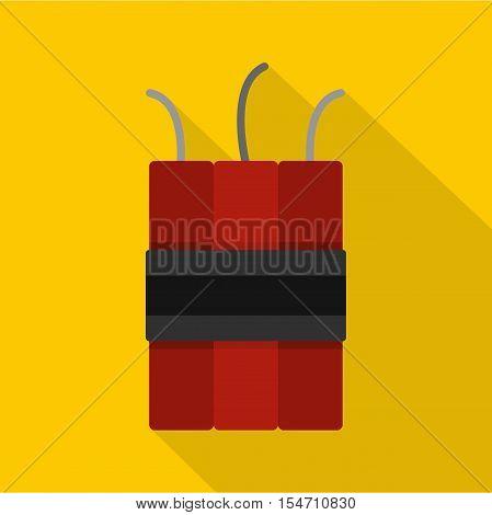 Dynamite explosives icon. Flat illustration of dynamite explosives vector icon for web