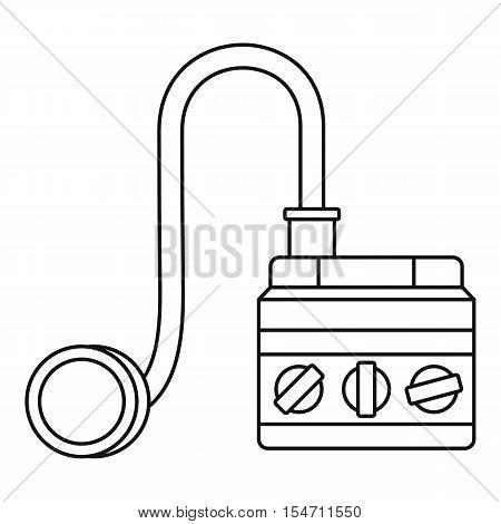 Detonator icon. Outline illustration of detonator vector icon for web