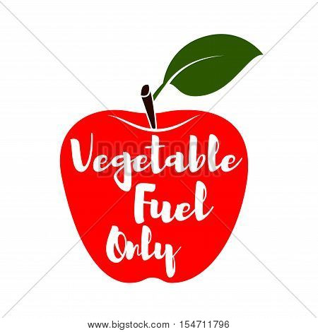 Fresh red apple organic food. Fresh sweet red apple vegetarian organic fruit agriculture. Vector Illustration