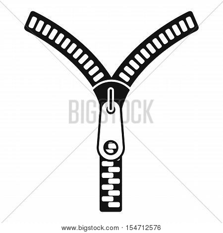 Zipper with lock icon. Simple illustration of zipper with lock vector icon for web