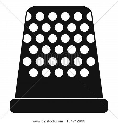 Thimble icon. Simple illustration of thimble vector icon for web