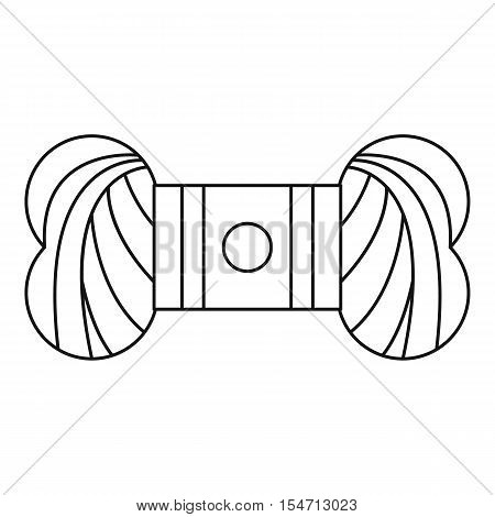 Skein of yarn icon. Outline illustration of skein of yarn vector icon for web