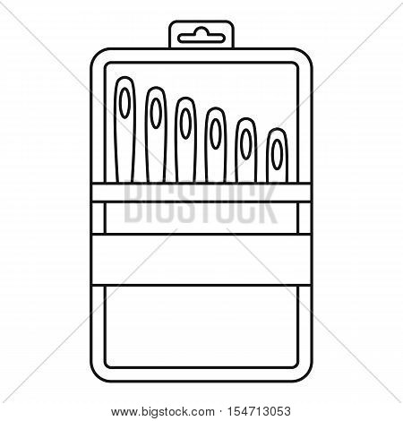 Set of needles icon. Outline illustration of set of needles vector icon for web