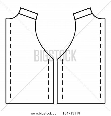 Pattern for sewing icon. Outline illustration of pattern for sewing vector icon for web