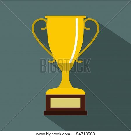 Winning gold cup icon. Flat illustration of winning gold cup vector icon for web