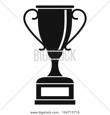 Winning gold cup icon. Simple illustration of winning gold cup vector icon for web
