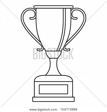 Winning gold cup icon. Outline illustration of winning gold cup vector icon for web